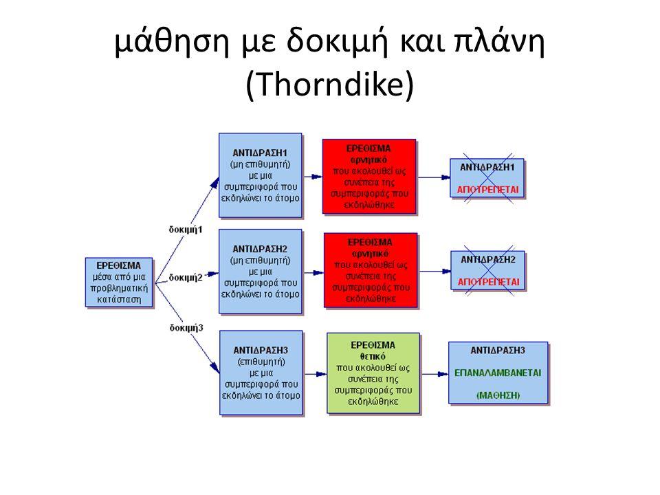 μάθηση με δοκιμή και πλάνη (Thorndike)