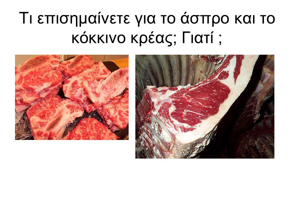 Τι επισημαίνετε για το άσπρο και το κόκκινο κρέας; Γιατί ;
