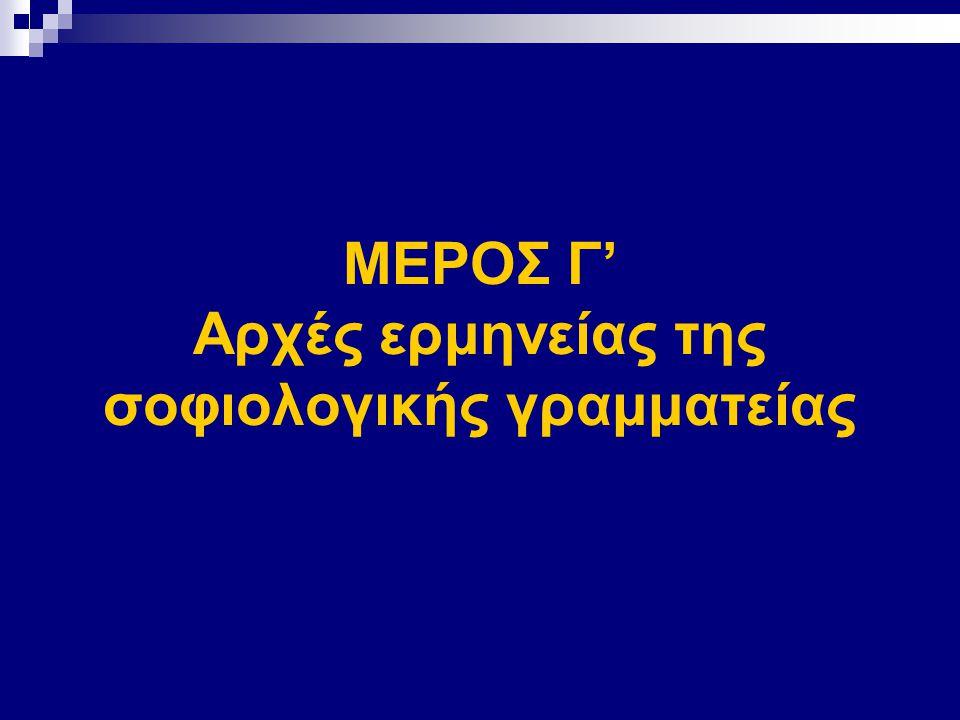ΜΕΡΟΣ Γ' Αρχές ερμηνείας της σοφιολογικής γραμματείας