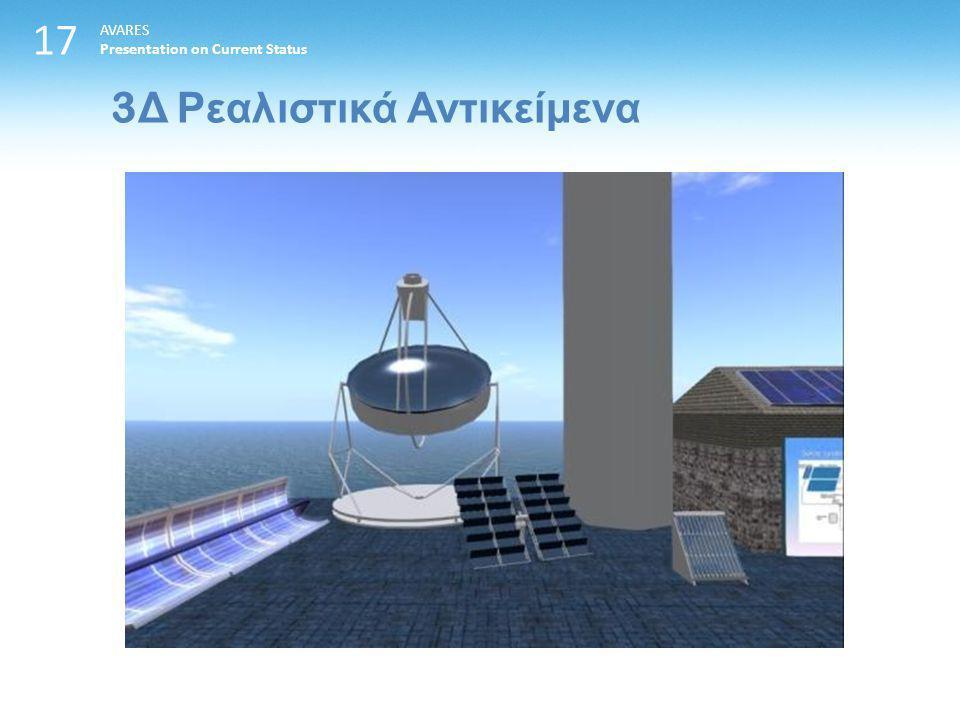 17 3 Δ Ρεαλιστικά Αντικείμενα AVARES Presentation on Current Status