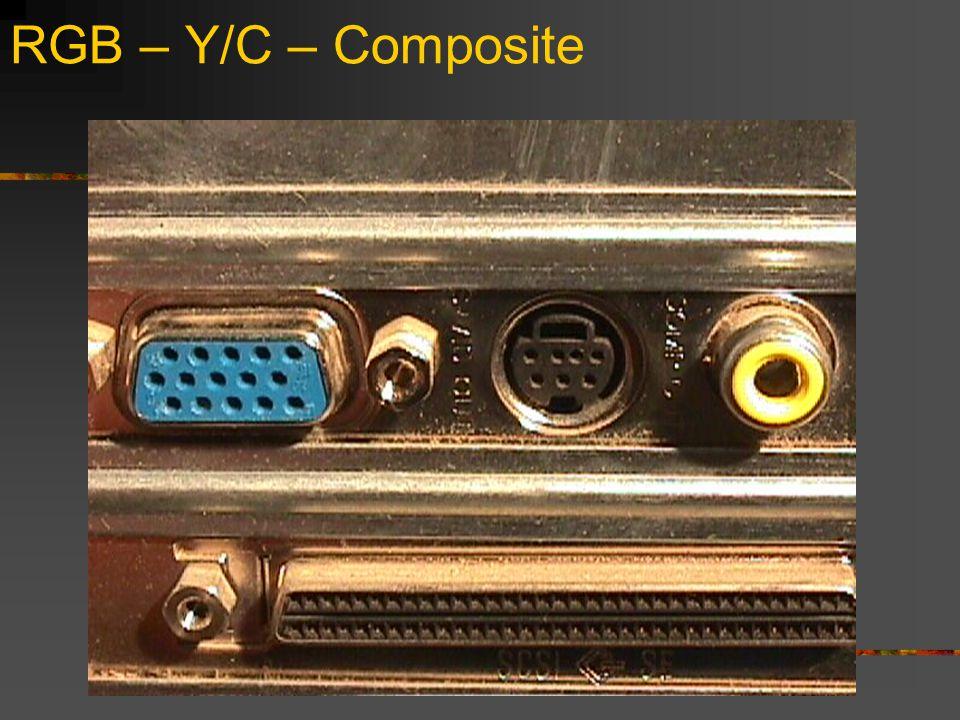 RGB – Y/C – Composite