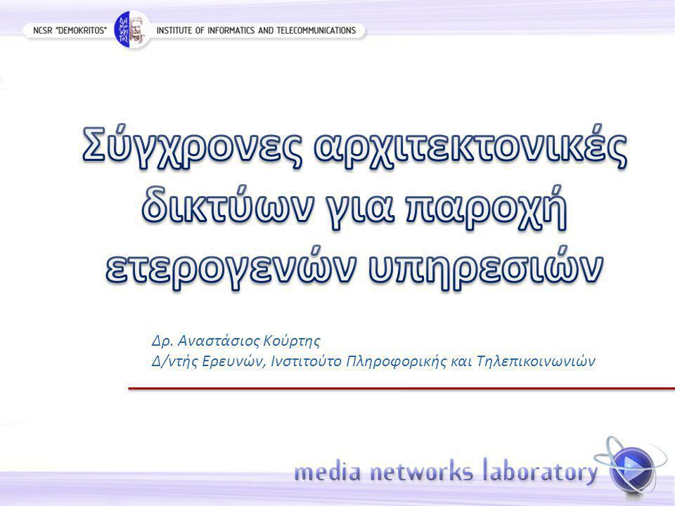 Δρ. Αναστάσιος Κούρτης Δ/ντής Ερευνών, Ινστιτούτο Πληροφορικής και Τηλεπικοινωνιών
