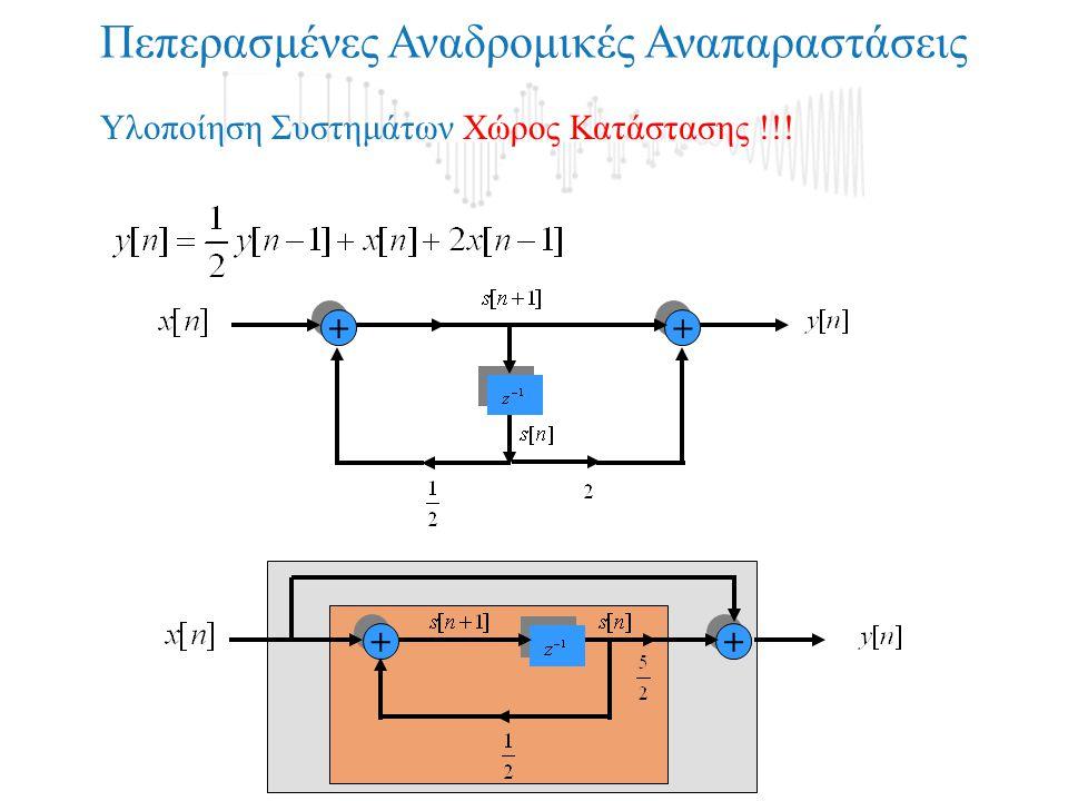 + + Πεπερασμένες Αναδρομικές Αναπαραστάσεις + + + + + + Υλοποίηση Συστημάτων Χώρος Κατάστασης !!!