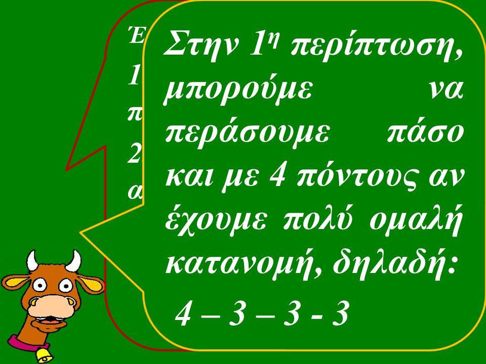 Έτσι: 1.- με 0-3 πόντους περνάμε πάσο 2.- με 4 – 11 πόντους αγοράζουμε τη μανς 3.- με 11+ ψάχνουμε για σλέμ Στην 1 η περίπτωση, μπορούμε να περάσουμε