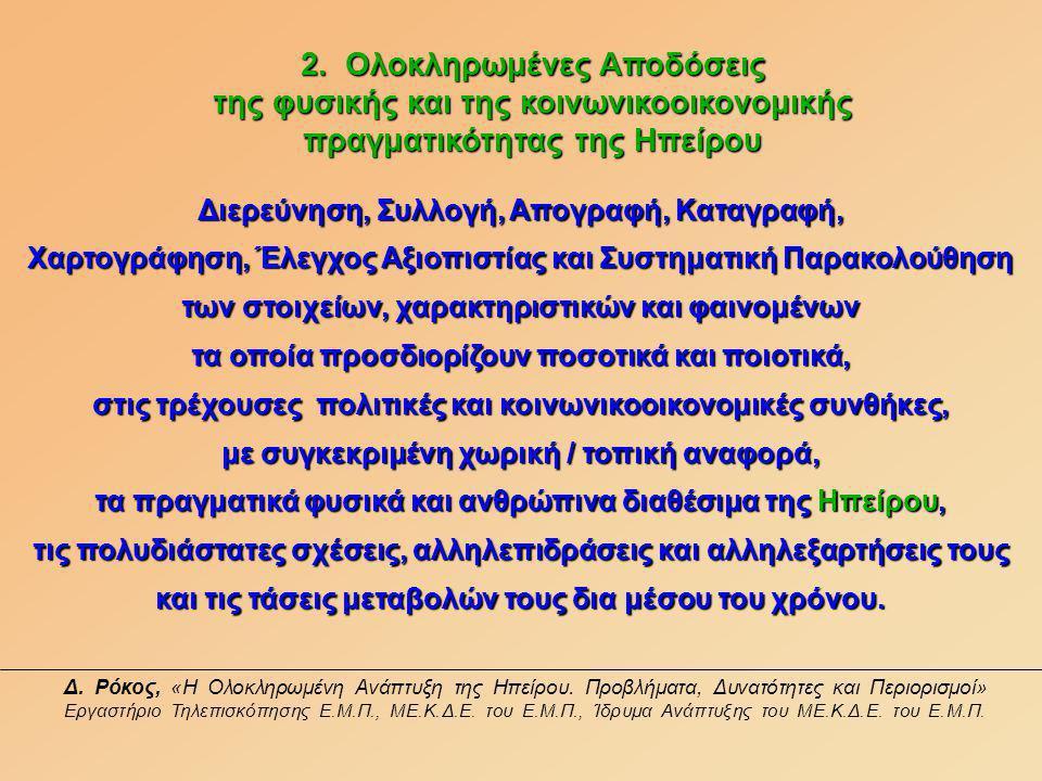 Δ. Ρόκος, «Η Ολοκληρωμένη Ανάπτυξη της Ηπείρου.