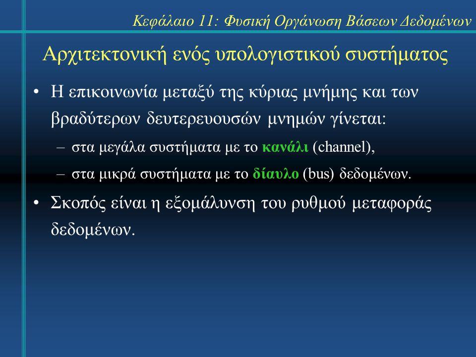 Κεφάλαιο 11: Φυσική Οργάνωση Βάσεων Δεδομένων Σύνοψη Η μνήμη απομόνωσης είναι τμήμα της κύριας μνήμης, το οποίο χρησιμοποιείται αποκλειστικά από το ΣΔΒΔ.