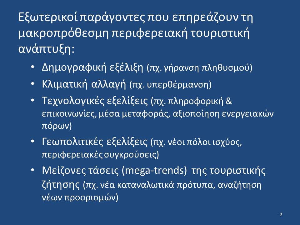 Εσωτερικοί παράγοντες: Μέση ετήσια αύξηση ΑΕΠ (μετα-μνημονιακή Ελλάδα) Δια-περιφερειακές ανισότητες Εξέλιξη της διάρθρωσης των δικτύων διανομής και βαθμός αφομοίωσης νέων τεχνολογιών Ανάπτυξη εθνικών δικτύων (πχ.