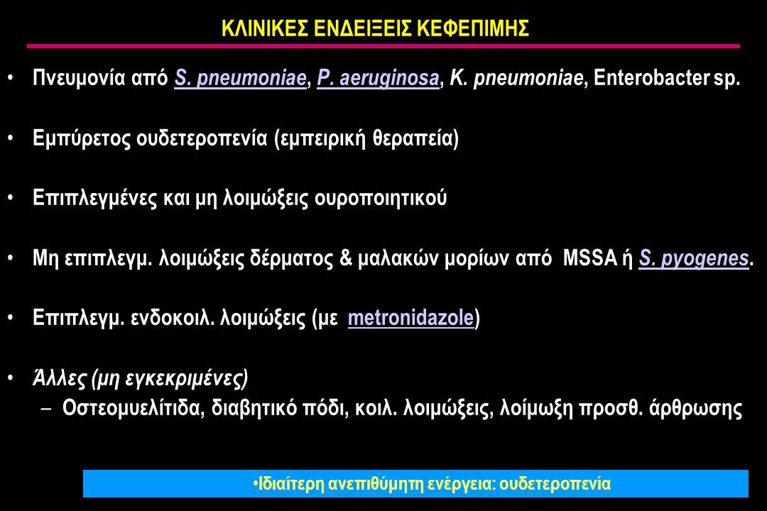 ΚΛΙΝΙΚΕΣ ΕΝΔΕΙΞΕΙΣ ΚΕΦΕΠΙΜΗΣ Πνευμονία από S.pneumoniae, P.