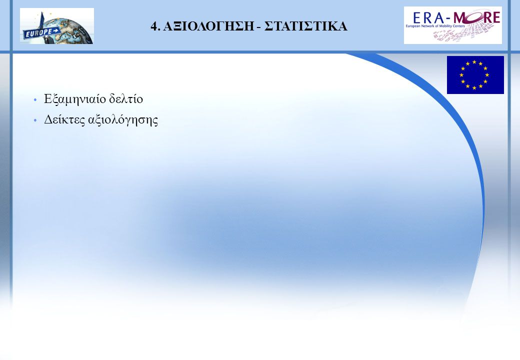 Protection of Inventions ΟΒΙ, 22 March 2004, Athens Mobility obstacles ΕΚΕΤΑ, 29 March – 1 April 2004, Thessaloniki The Communication Portal ERA-MORE (CIRCA), ΕΙΕ, ΕΚΕΤΑ, Αθήνα, 17.6.2004 Training on the Researchers Mobility Portal, Παν.