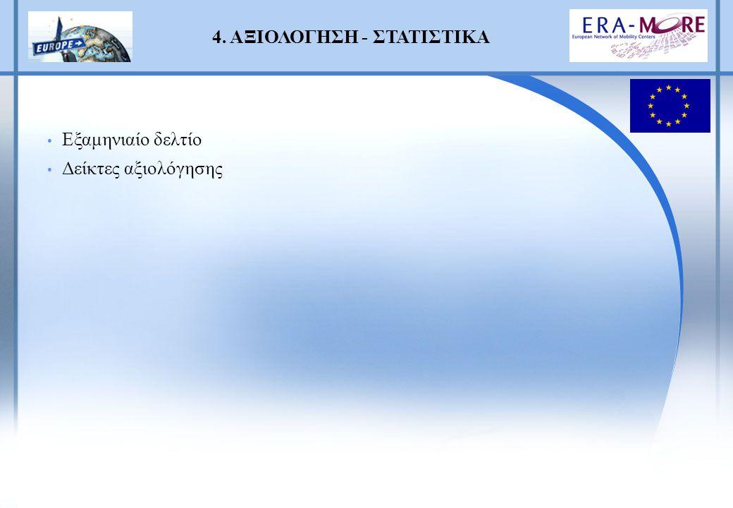 4. ΑΞΙΟΛΟΓΗΣΗ - ΣΤΑΤΙΣΤΙΚΑ Εξαμηνιαίο δελτίο Δείκτες αξιολόγησης