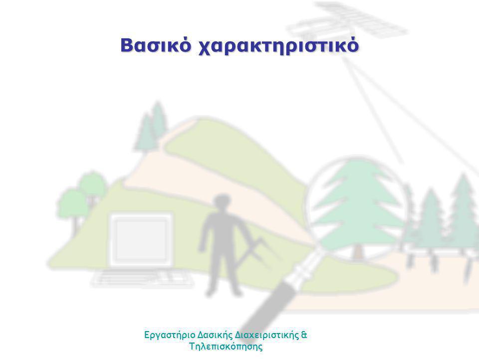 Εργαστήριο Δασικής Διαχειριστικής & Τηλεπισκόπησης Βασικό χαρακτηριστικό
