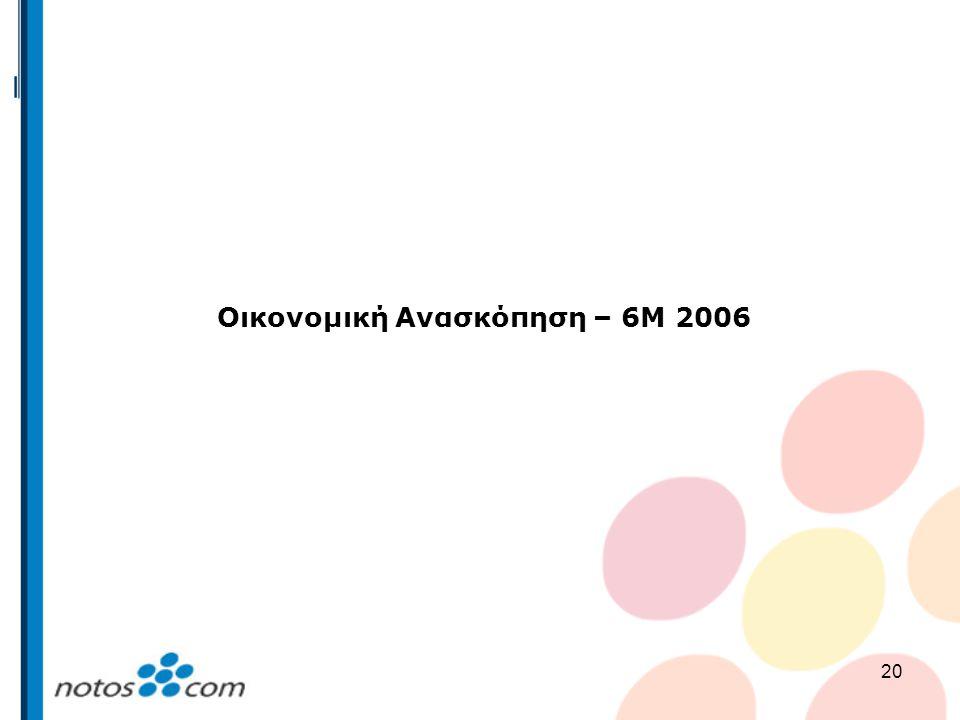 20 Οικονομική Ανασκόπηση – 6Μ 2006