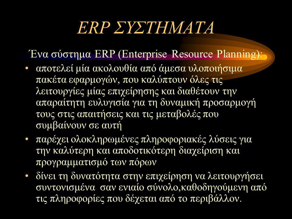 ΠΕΡΙΕΧΟΜΕΝΑ ERP –Τι είναι - Στόχοι –Πλεονεκτήματα –Φάσεις υλοποίησης –Προβλήματα υιοθέτησης ERP συστήματα στην Ελλάδα Μελέτη περίπτωσης: ΑΓΕΤ ΗΡΑΚΛΗΣ