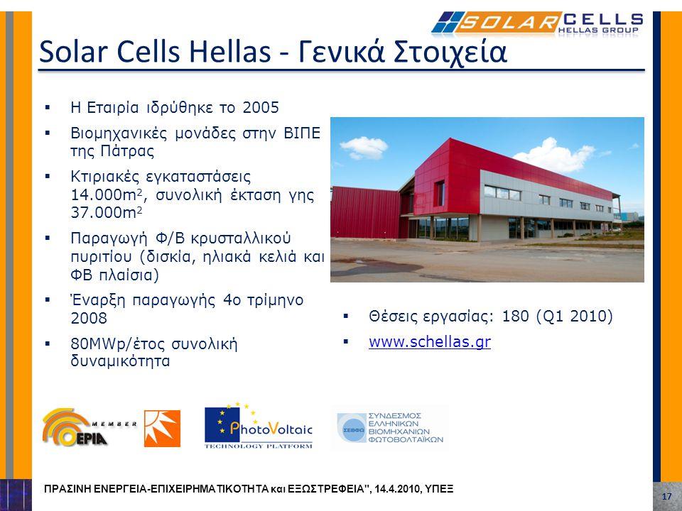  Η Εταιρία ιδρύθηκε το 2005  Βιομηχανικές μονάδες στην ΒΙΠΕ της Πάτρας  Κτιριακές εγκαταστάσεις 14.000m 2, συνολική έκταση γης 37.000m 2  Παραγωγή