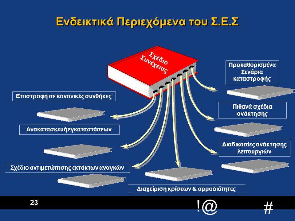 !@ # 24 Δραστηριότητες 5ης Φάσης  Έλεγχος και δοκιμή του Σχεδίου Επιχειρησιακής Συνέχειας ( Αρχικά κάθε σχέδιο ανάκτησης ξεχωριστά και στη συνέχεια σε συνδυασμούς )  Συντήρηση και συνεχή ενημέρωση του Σ.Ε.Σ.