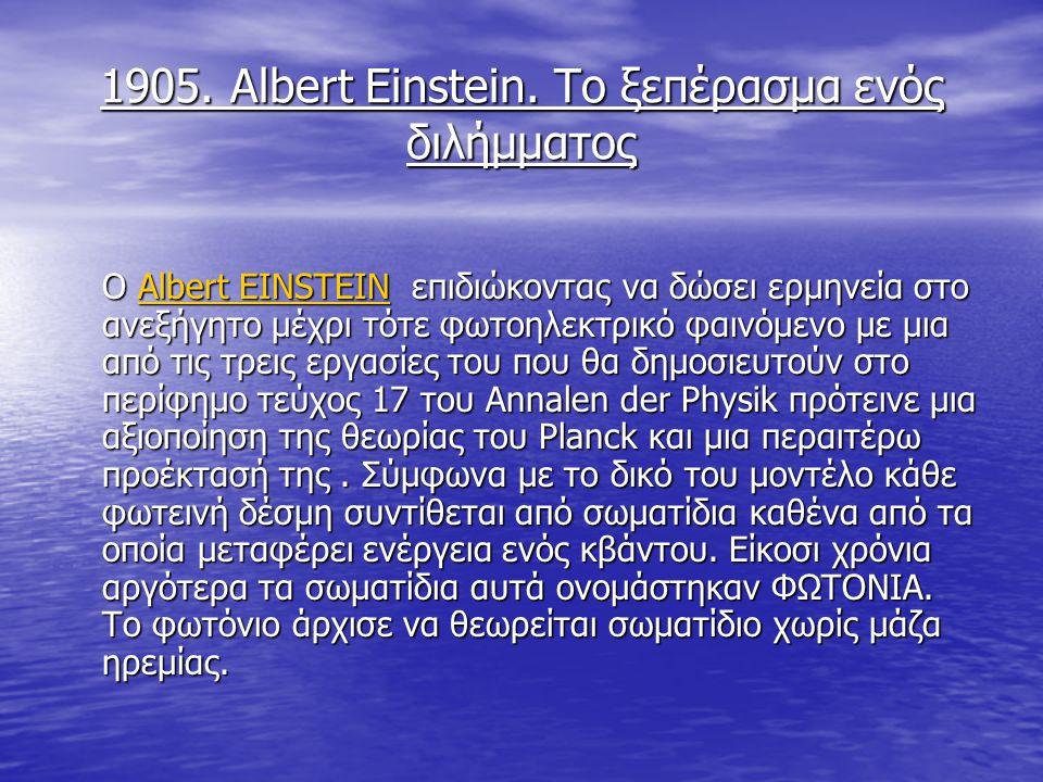 1905.Albert Einstein.