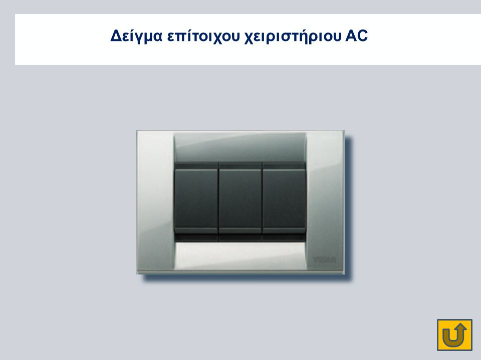 Δείγμα επίτοιχου χειριστήριου AC