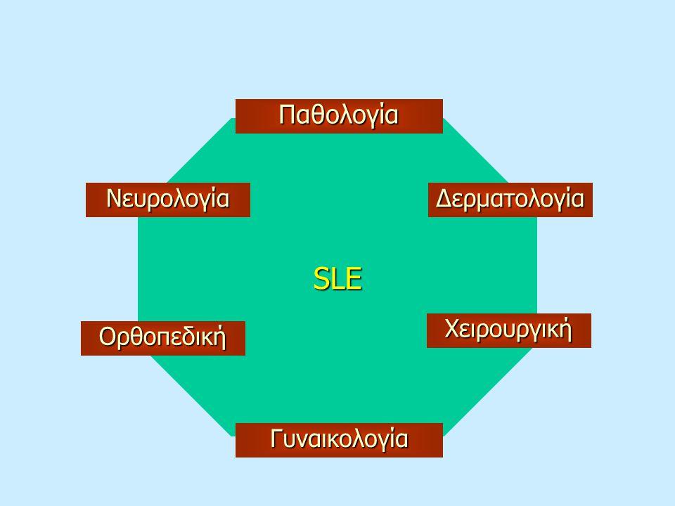 SLE Παθολογία ΔερματολογίαΝευρολογία Χειρουργική Ορθοπεδική Γυναικολογία