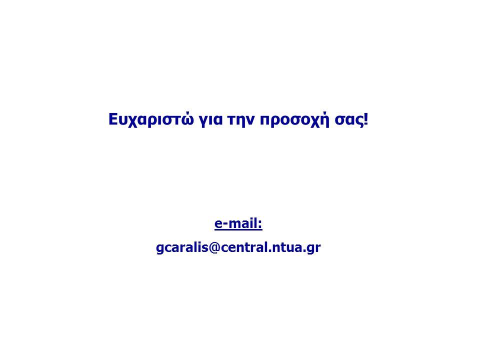 Ευχαριστώ για την προσοχή σας! e-mail: gcaralis@central.ntua.gr