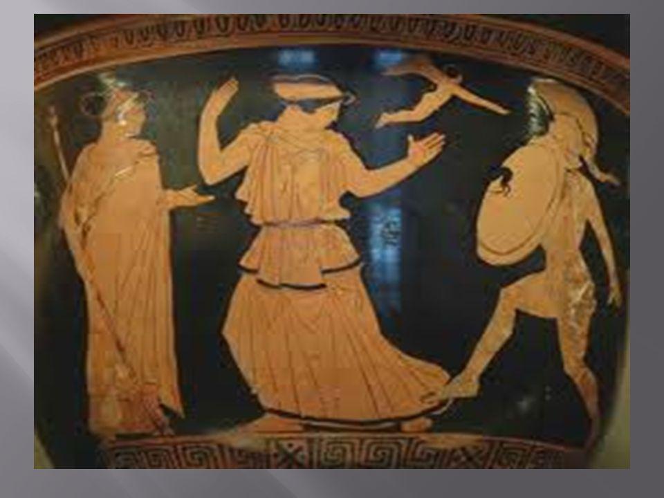 Ο αγγελιαφόρος μέσα από τις απόψεις και τους προβληματισμούς του προσπαθεί να επηρεάσει τους Αθηναίους θεατές τους 412 π.
