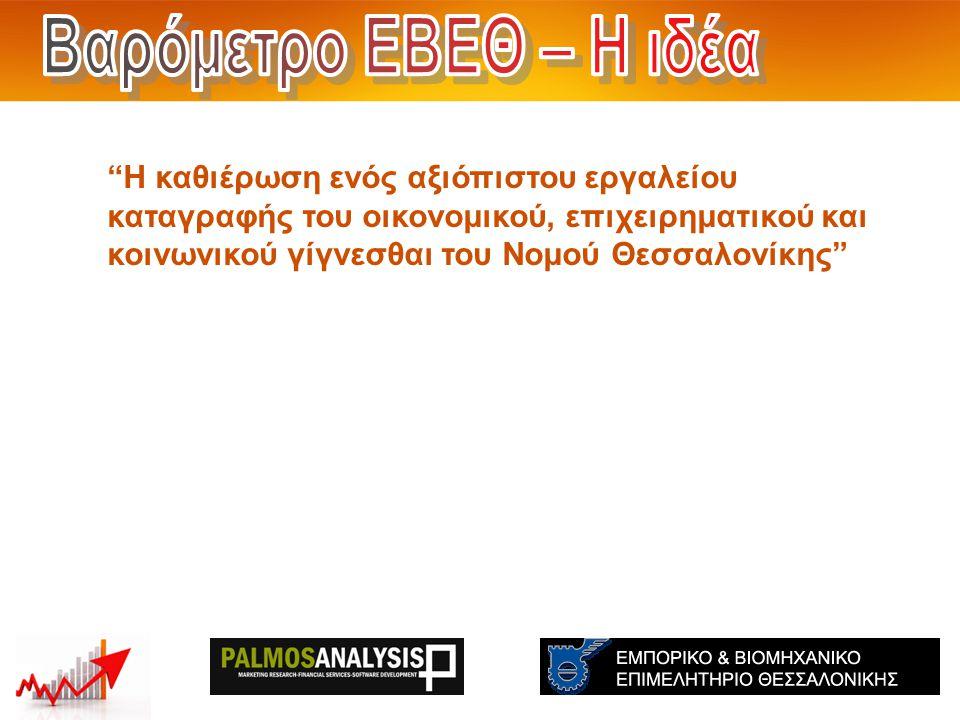 2 Δείκτης Επιχειρηματικών Προσδοκιών (Βιομηχανία) – Σεπτέμβριος 2013 Νομός Θεσσαλονίκης: -13 Ελλάδα:-5 Eυρωπαϊκή Ένωση:-5 Πηγή: 1.Νομός Θεσσαλονίκης: Βαρόμετρο ΕΒΕΘ 2.Ελλάδα: ΙΟΒΕ 3.Ευρωπαϊκή Ένωση: DG ECFIN Δείκτης Επιχειρηματικών Προσδοκιών (Βιομηχανία) Νομός Θεσσαλονίκης: -6 Ελλάδα:-4 Eυρωπαϊκή Ένωση:-3