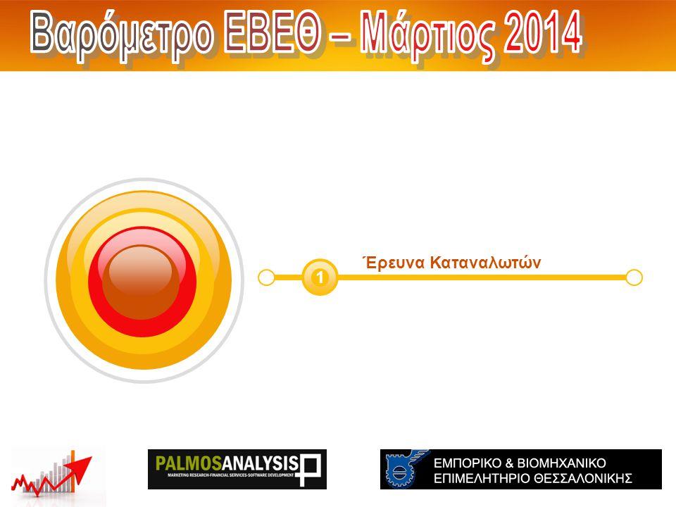Έρευνα Καταναλωτών 1 Ισοζύγια (Θετικά – Αρνητικά ) THE: -54 GR:-47 EU:- Ισοζύγια (Θετικά – Αρνητικά ) THE: -62 GR: -70 EU:- Σεπτέμβριος 2013