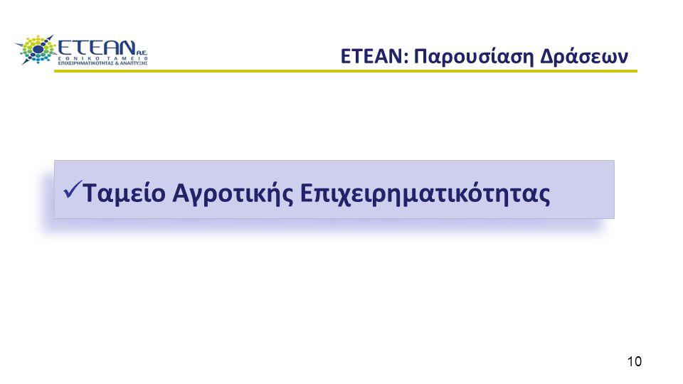 ETEAN: Παρουσίαση Δράσεων Ταμείο Αγροτικής Επιχειρηματικότητας 10