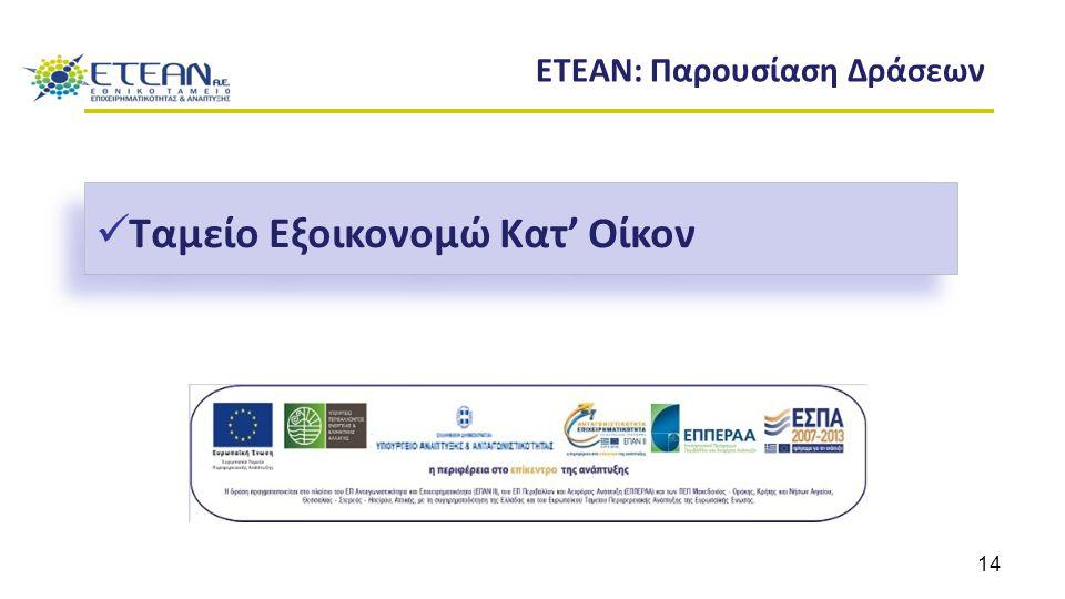 ETEAN: Παρουσίαση Δράσεων Ταμείο Εξοικονομώ Κατ' Οίκον 14