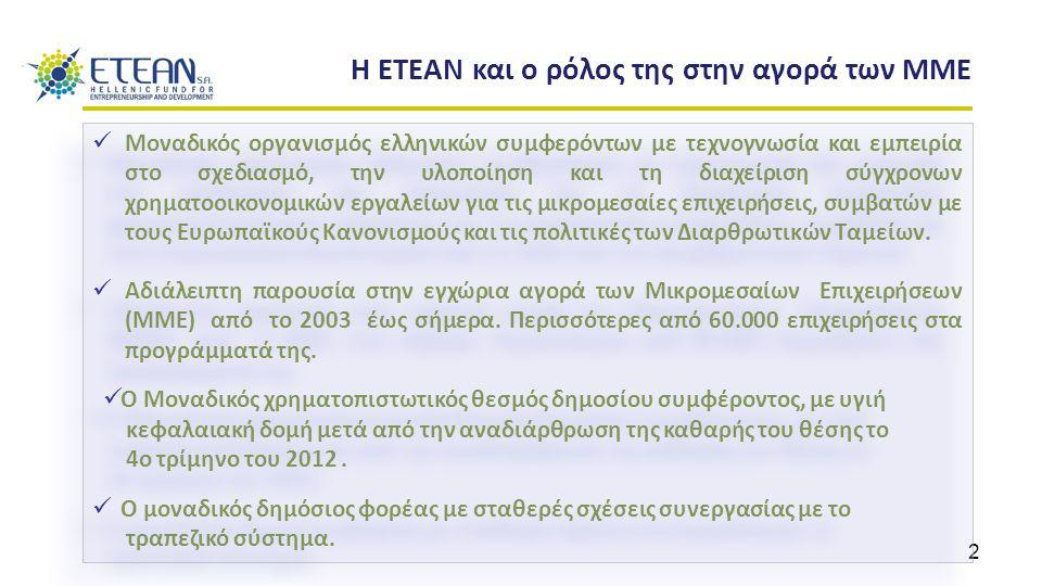 2 Η ΕΤΕΑΝ και ο ρόλος της στην αγορά των ΜΜΕ Μοναδικός οργανισμός ελληνικών συμφερόντων με τεχνογνωσία και εμπειρία στο σχεδιασμό, την υλοποίηση και τ