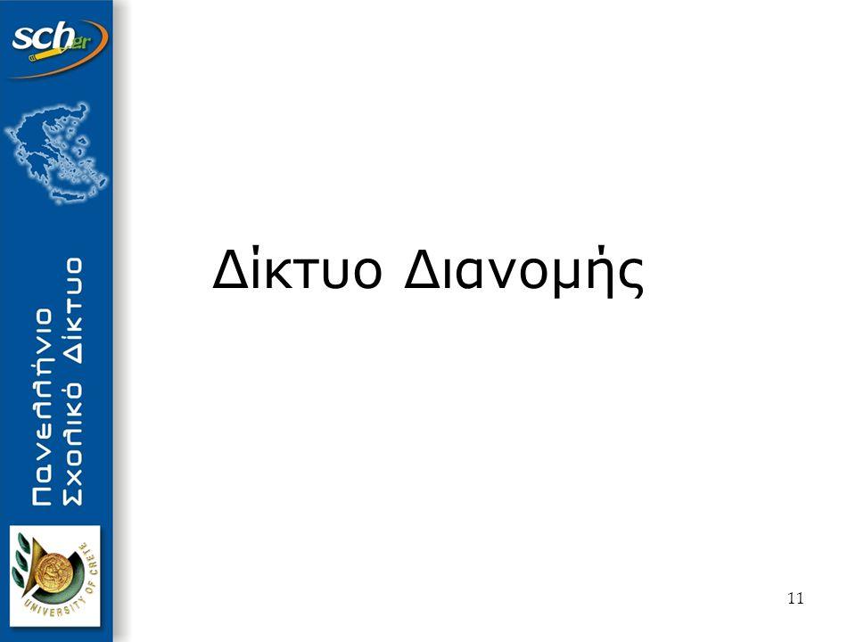 12 Δίκτυο Διανομής 51 κόμβοι (ένας σε κάθε νομό) 10 πρωτεύοντες κόμβοι ( Αθήνα, Θεσσαλονίκη, Πάτρα, Ηράκλειο, Λάρισα, Ιωάννινα, Ξάνθη, Καλαμάτα, Χίο, Σύρο ) 41 δευτερεύοντες κόμβοι (λοιποί νομοί )