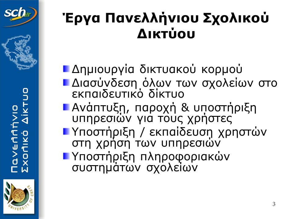 4 Αποτελέσματα Εκτεταμένη δικτυακή υποδομή σε όλη την Ελλάδα – Tο μεγαλύτερο δημόσιο δίκτυο στη χώρα Προηγμένες τεχνολογικές υποδομές Κλειστό εκπαιδευτικό ενδοδίκτυο Νέες τεχνολογίες πρόσβασης υψηλής ταχύτητας Πλήθος προηγμένων υπηρεσιών για τους χρήστες μας Υποστήριξη / εκπαίδευση χρηστών