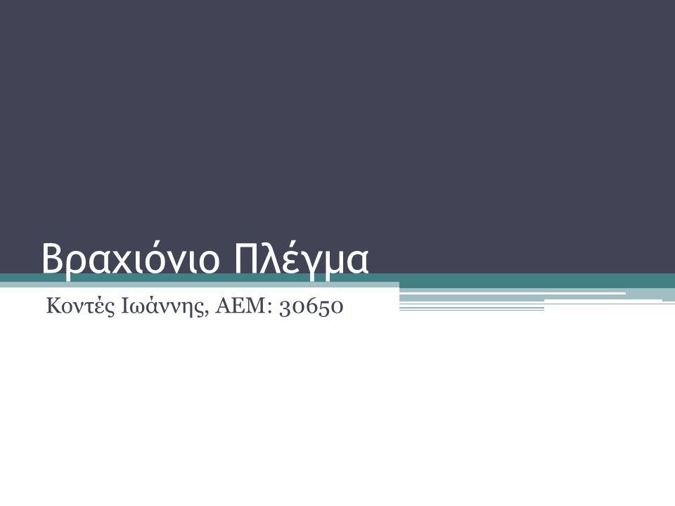 Βραχιόνιο Πλέγμα Κοντές Ιωάννης, ΑΕΜ: 30650