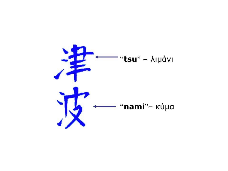 tsu – λιμάνι nami – κύμα