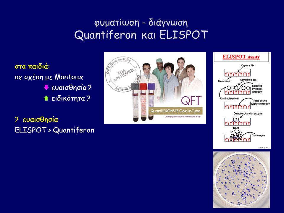 φυματίωση - διάγνωση Quantiferon και ELISPOT στα παιδιά: σε σχέση με Mantoux  ευαισθησία .