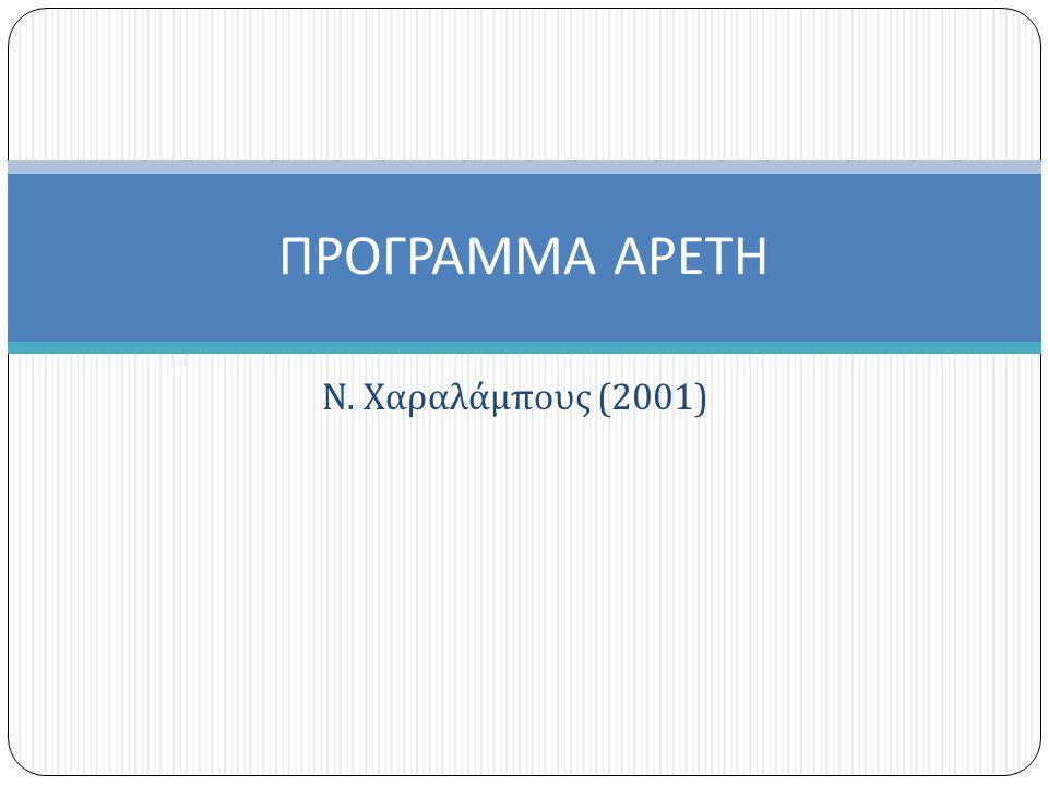Ν. Χαραλάμπους (2001) ΠΡΟΓΡΑΜΜΑ ΑΡΕΤΗ