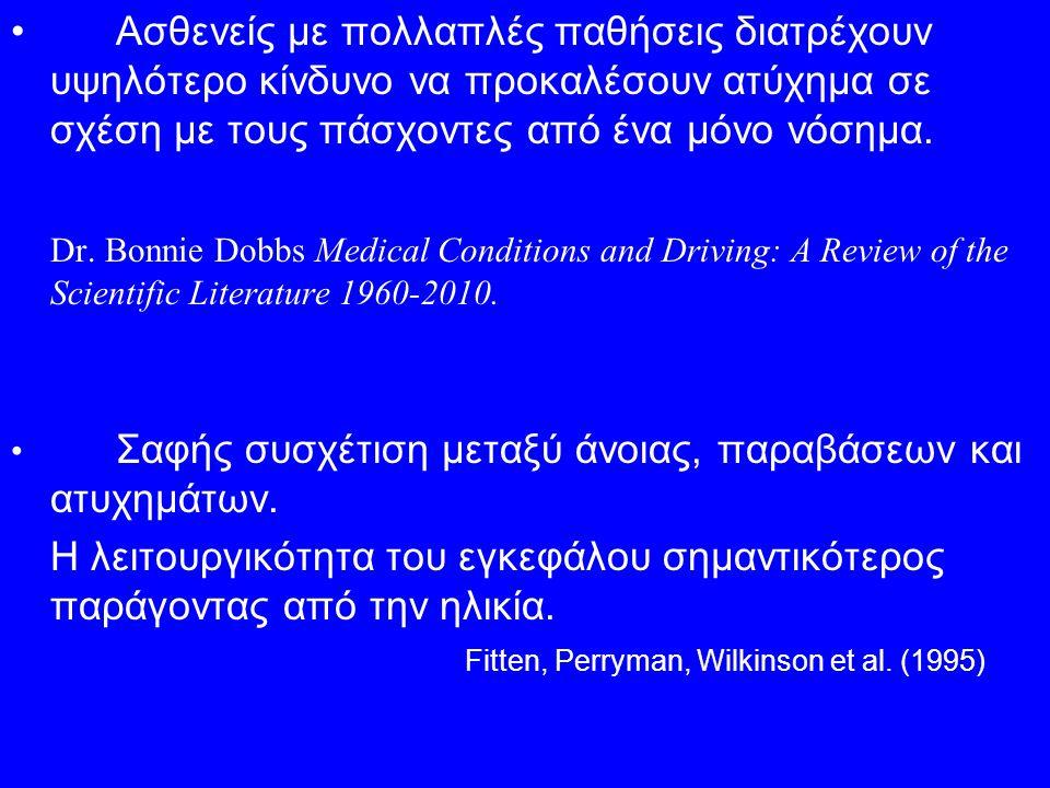 Ασθενείς με πολλαπλές παθήσεις διατρέχουν υψηλότερο κίνδυνο να προκαλέσουν ατύχημα σε σχέση με τους πάσχοντες από ένα μόνο νόσημα. Dr. Bonnie Dobbs Me