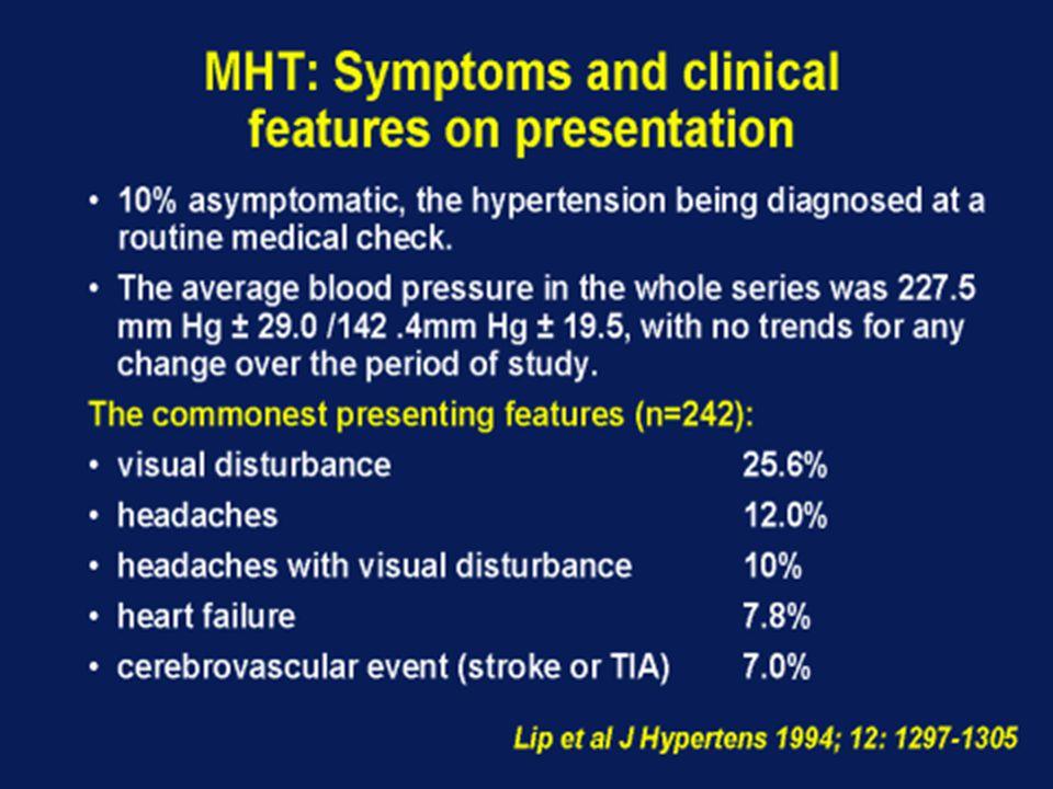 Ασθενείς με αυξημένη αρτηριακή πίεση Πολύ αυξημένη πίεση και οξεία βλάβη ενός οργάνου – στόχου (ο υψηλότερος κίνδυνος αν όχι θεραπεία) Πολύ αυξημένη πίεση χωρίς βλάβη ενός οργάνου – στόχου (ο χαμηλότερος κίνδυνος 70% είναι υπέρταση σταδίου ΙΙ) Πολύ αυξημένη πίεση και χρόνια βλάβη ενός οργάνου – στόχου (ποια είναι η βέλτιστη αντιμετώπιση ??)