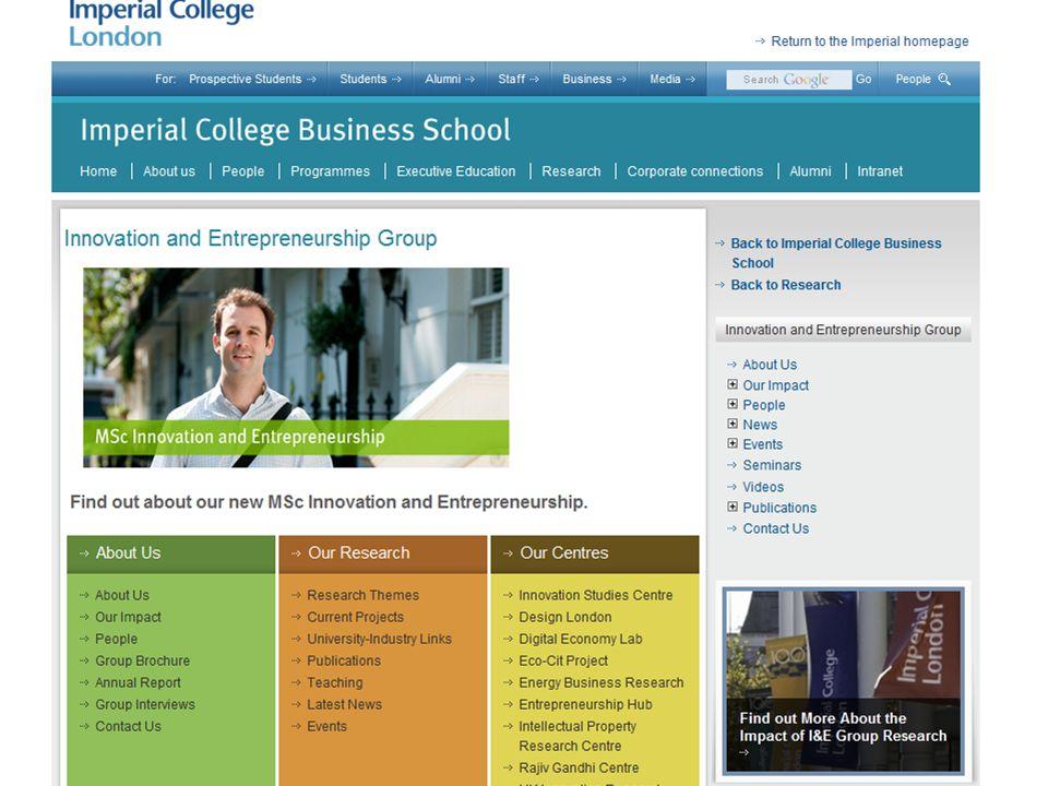  Εκπαίδευση  Κυβέρνηση (Υποδομές/λειτουργία) Τα συστατικά της καινοτομίας και επιχειρηματικότητας