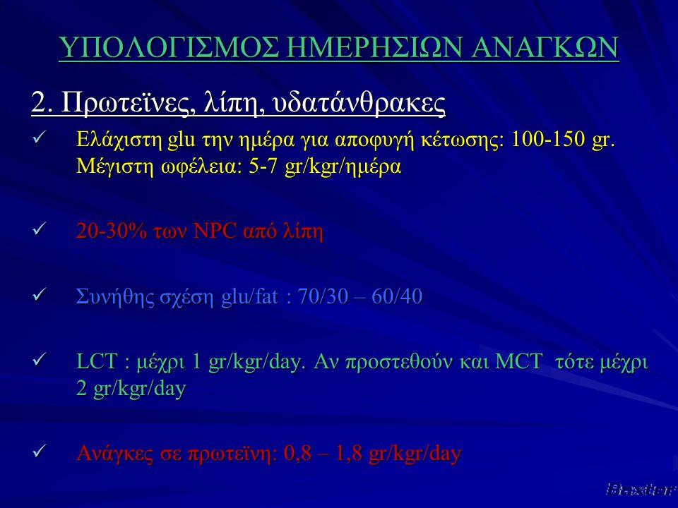 ΥΠΟΛΟΓΙΣΜΟΣ ΗΜΕΡΗΣΙΩΝ ΑΝΑΓΚΩΝ 2.