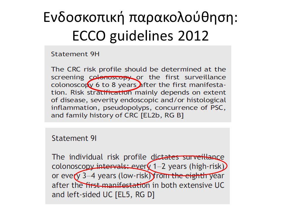 Ενδοσκοπική παρακολούθηση: ECCO guidelines 2012