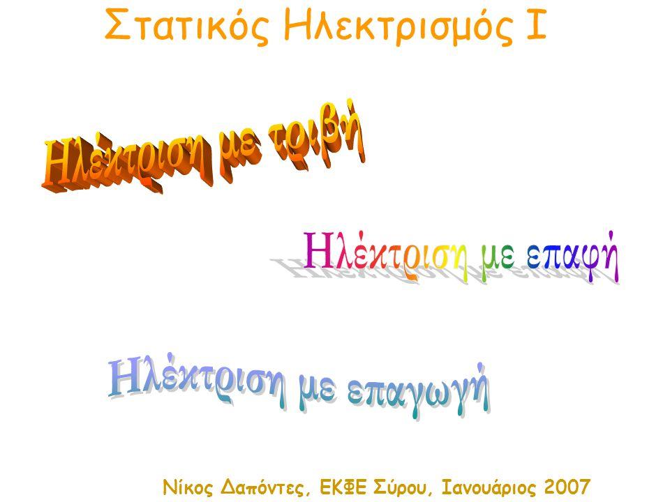 Στατικός Ηλεκτρισμός Ι Νίκος Δαπόντες, ΕΚΦΕ Σύρου, Ιανουάριος 2007
