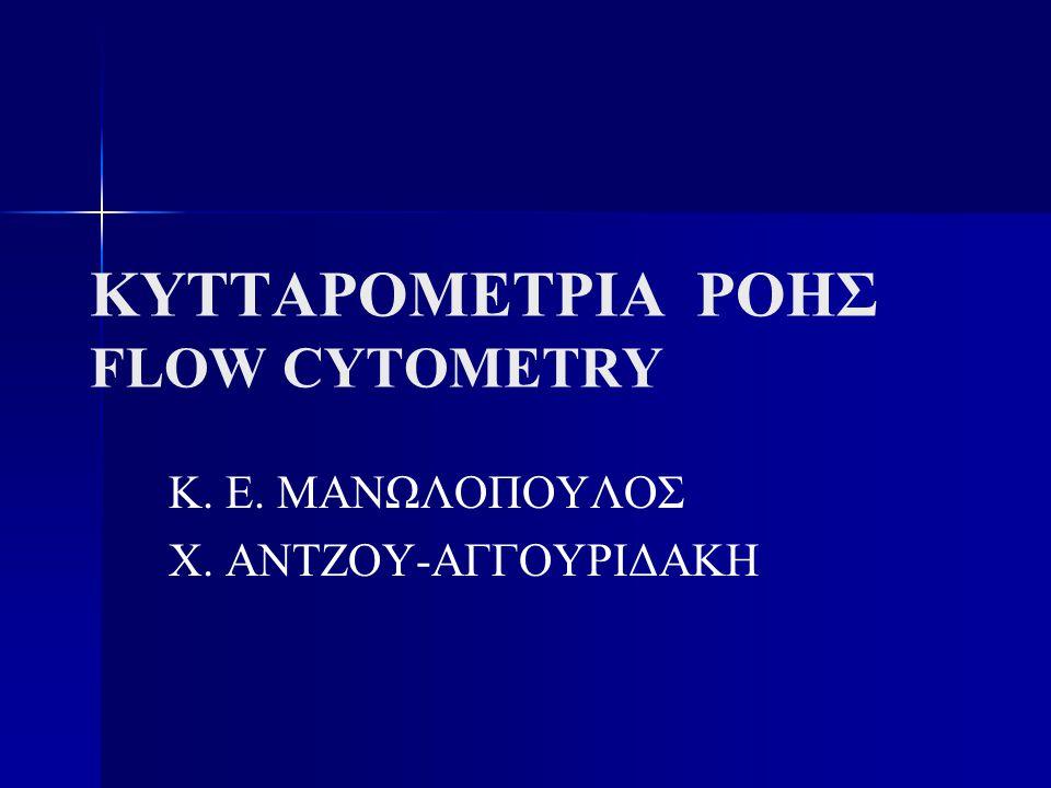 ΚΥΤΤΑΡΟΜΕΤΡΙΑ ΡΟΗΣ FLOW CYTOMETRY Κ. Ε. ΜΑΝΩΛΟΠΟΥΛΟΣ Χ. ΑΝΤΖΟΥ-ΑΓΓΟΥΡΙΔΑΚΗ
