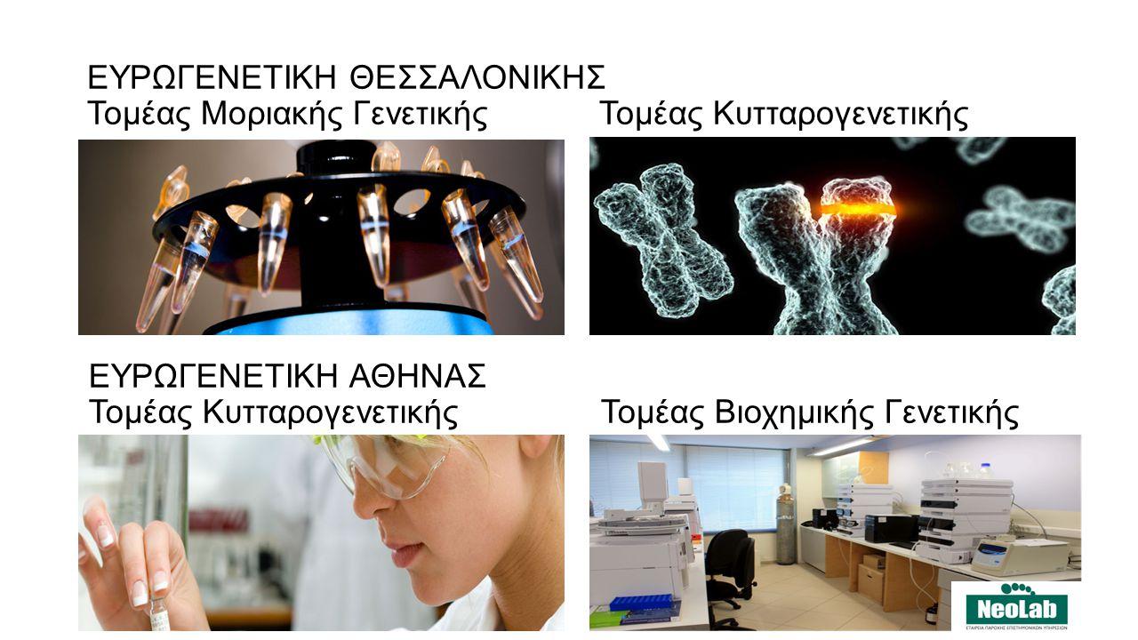 ΕΥΡΩΓΕΝΕΤΙΚΗ ΘΕΣΣΑΛΟΝΙΚΗΣ Τομέας Μοριακής ΓενετικήςΤομέας Κυτταρογενετικής ΕΥΡΩΓΕΝΕΤΙΚΗ ΑΘΗΝΑΣ Τομέας ΚυτταρογενετικήςΤομέας Βιοχημικής Γενετικής