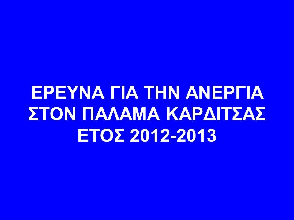 ΕΡΕΥΝΑ ΓΙΑ ΤΗΝ ΑΝΕΡΓΙΑ ΣΤΟΝ ΠΑΛΑΜΑ ΚΑΡΔΙΤΣΑΣ ΕΤΟΣ 2012-2013