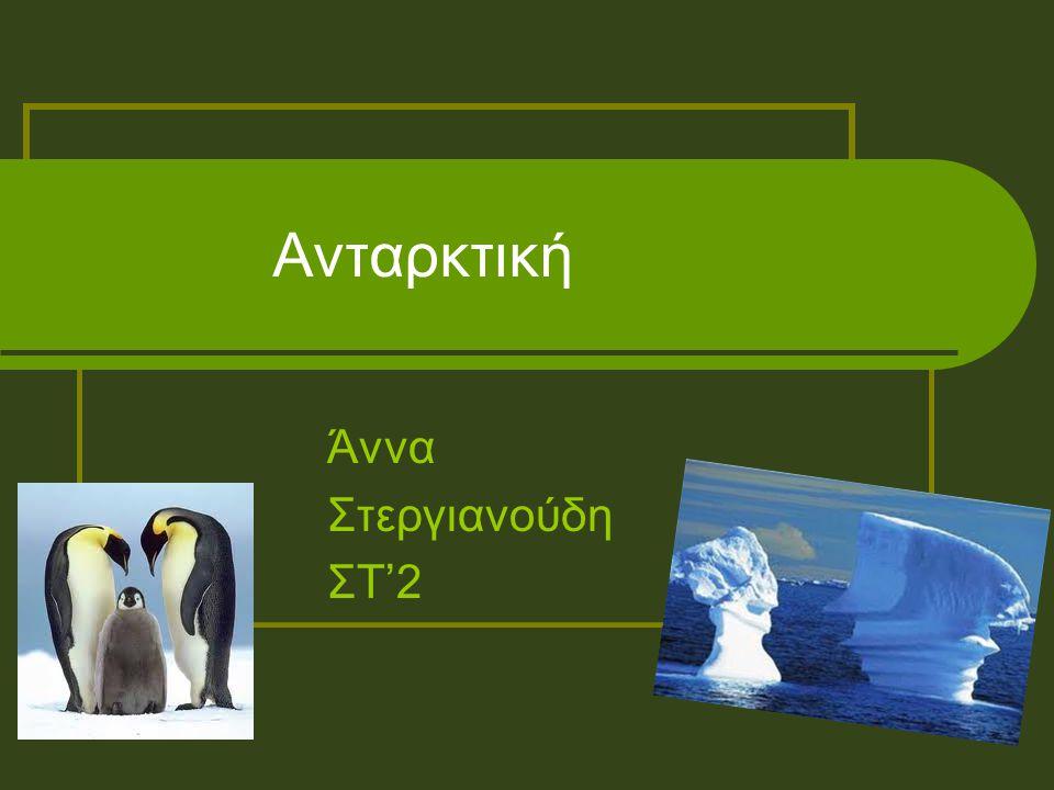 Ανταρκτική Άννα Στεργιανούδη ΣΤ'2