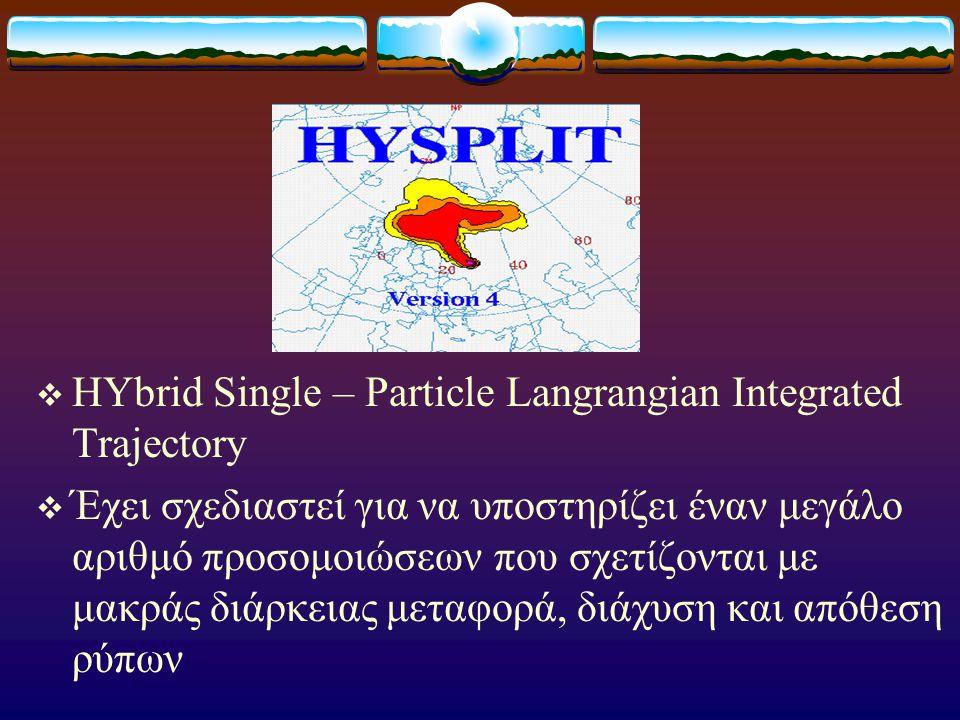 ΕΙΣΑΓΩΓΗ  Τροχιά αέρινης μάζας είναι η διαδρομή που διανύει ένα πακέτο αέρα.  Τα μοντέλα υπολογισμού τροχιών χρησιμοποιήθηκαν για να μελετηθούν διάφ