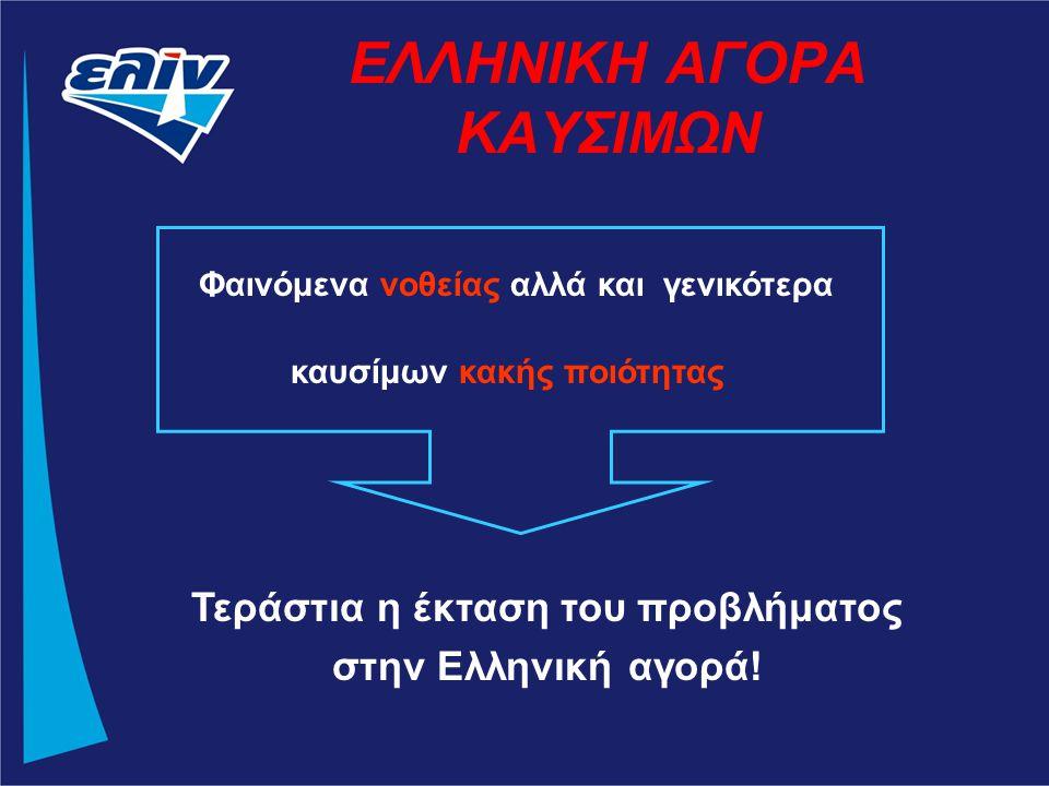 ΕΛΛΗΝΙΚΗ ΑΓΟΡΑ ΚΑΥΣΙΜΩΝ Φαινόμενα νοθείας αλλά και γενικότερα καυσίμων κακής ποιότητας Τεράστια η έκταση του προβλήματος στην Ελληνική αγορά!