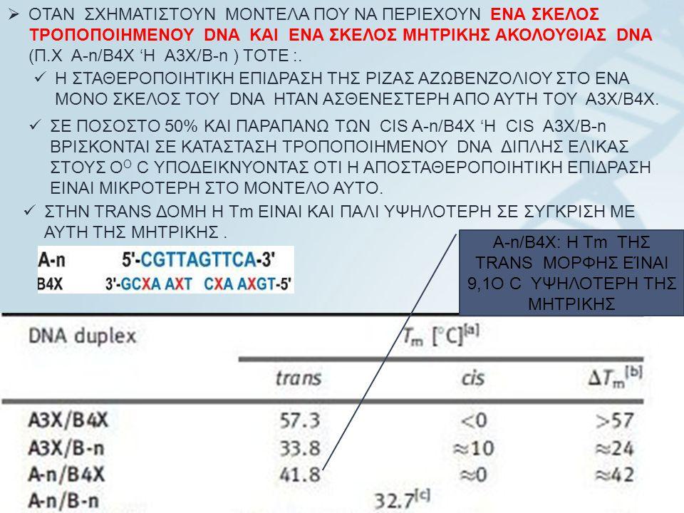 24  ΟΤΑΝ ΣΧΗΜΑΤΙΣΤΟΥΝ ΜΟΝΤΕΛΑ ΠΟΥ ΝΑ ΠΕΡΙΕΧΟΥΝ ΕΝΑ ΣΚΕΛΟΣ ΤΡΟΠΟΠΟΙΗΜΕΝΟΥ DNA ΚΑΙ ΕΝΑ ΣΚΕΛΟΣ ΜΗΤΡΙΚΗΣ ΑΚΟΛΟΥΘΙΑΣ DNA (Π.Χ A-n/B4X 'H A3X/B-n ) TOTE :.