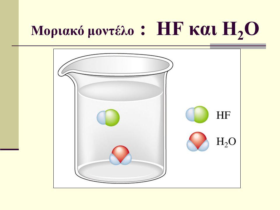 Μοριακό μοντέλο : HF και H 2 O