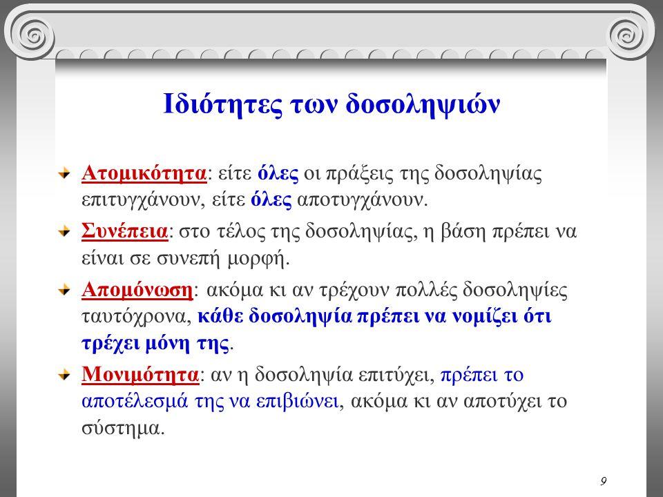 90 Ερώτηση T 1 read(A); write(A); read(B); write(B).